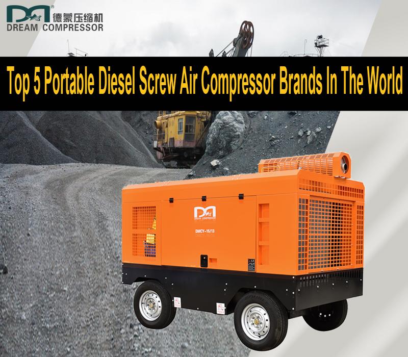 5 ведущих мировых брендов портативных винтовых дизельных компрессоров